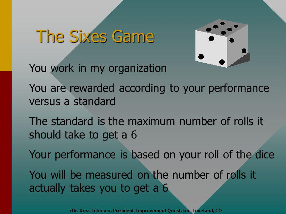The Sixes Game You work in my organization