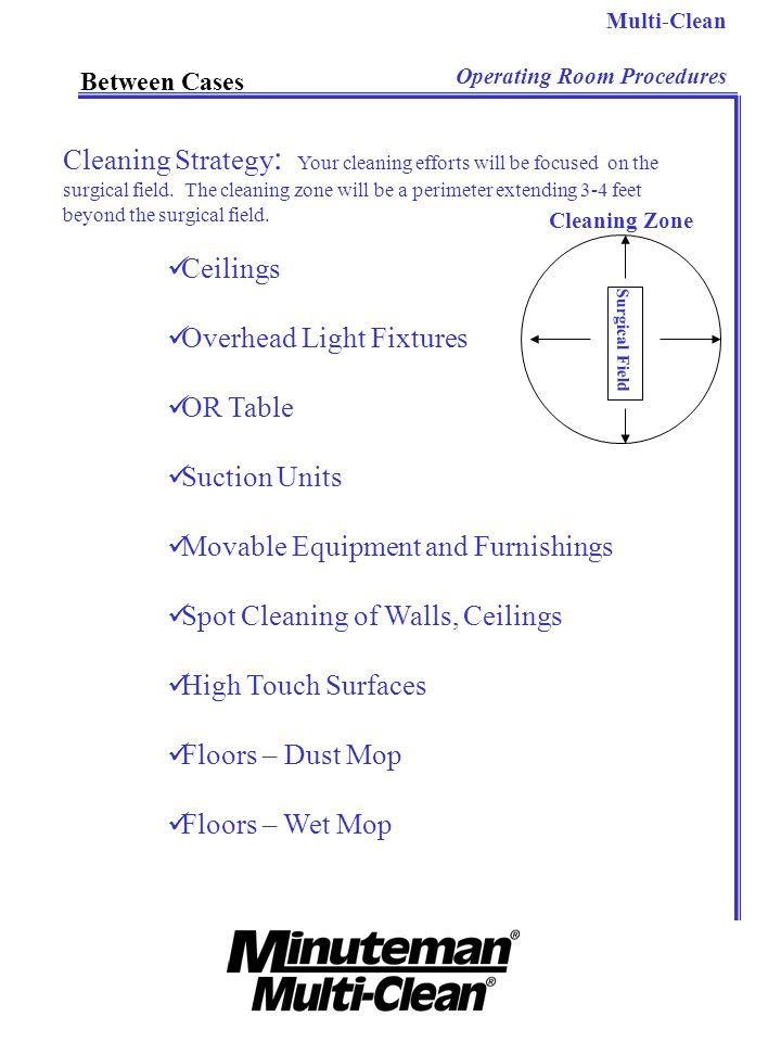 Cleaning Strategy: Your cleaning efforts will be focused on the