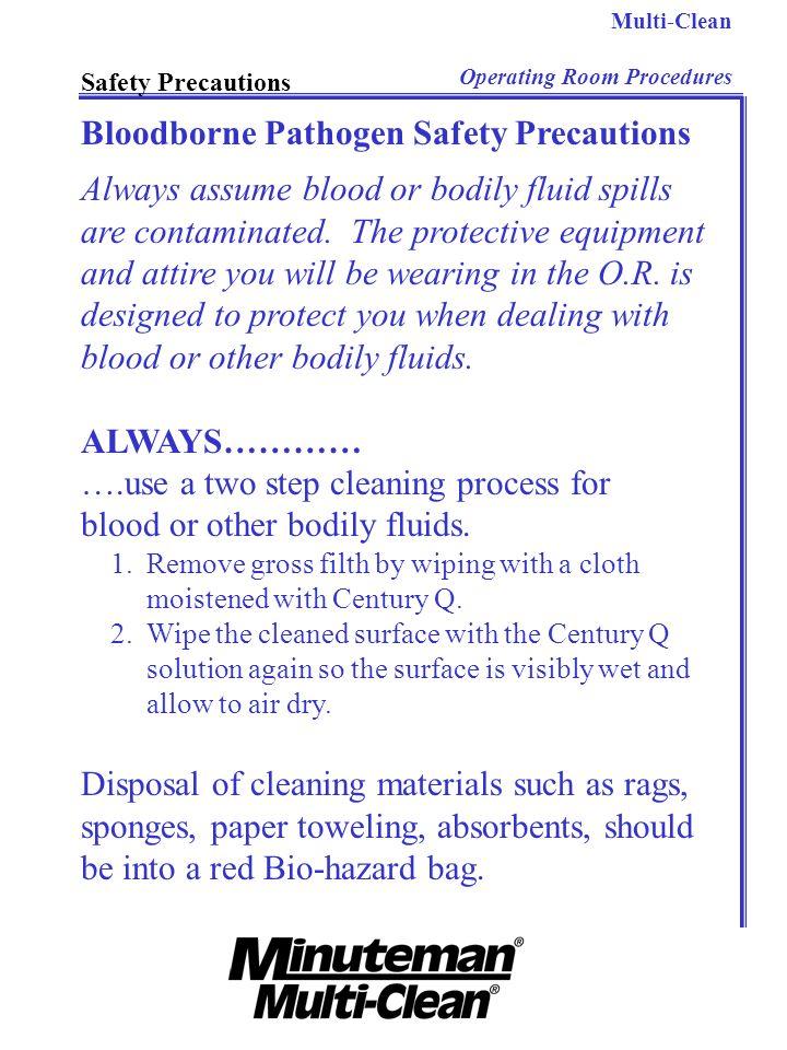 Bloodborne Pathogen Safety Precautions