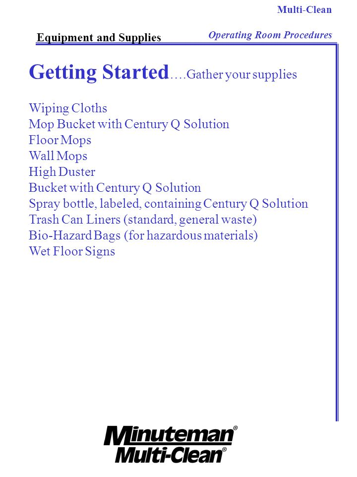 Getting Started….Gather your supplies