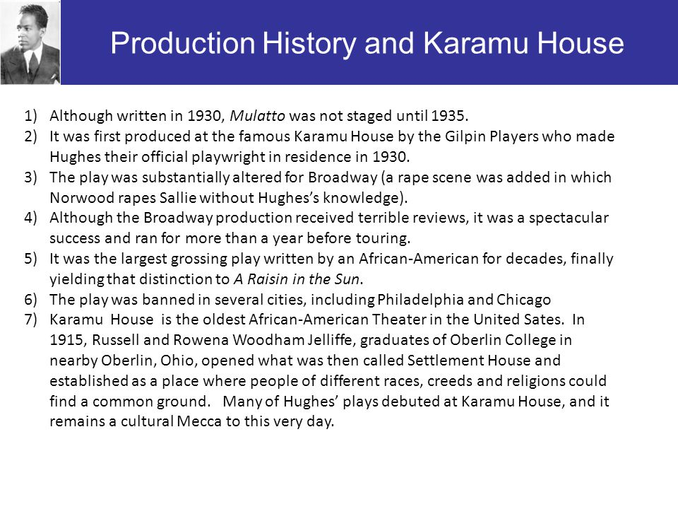 Production History and Karamu House