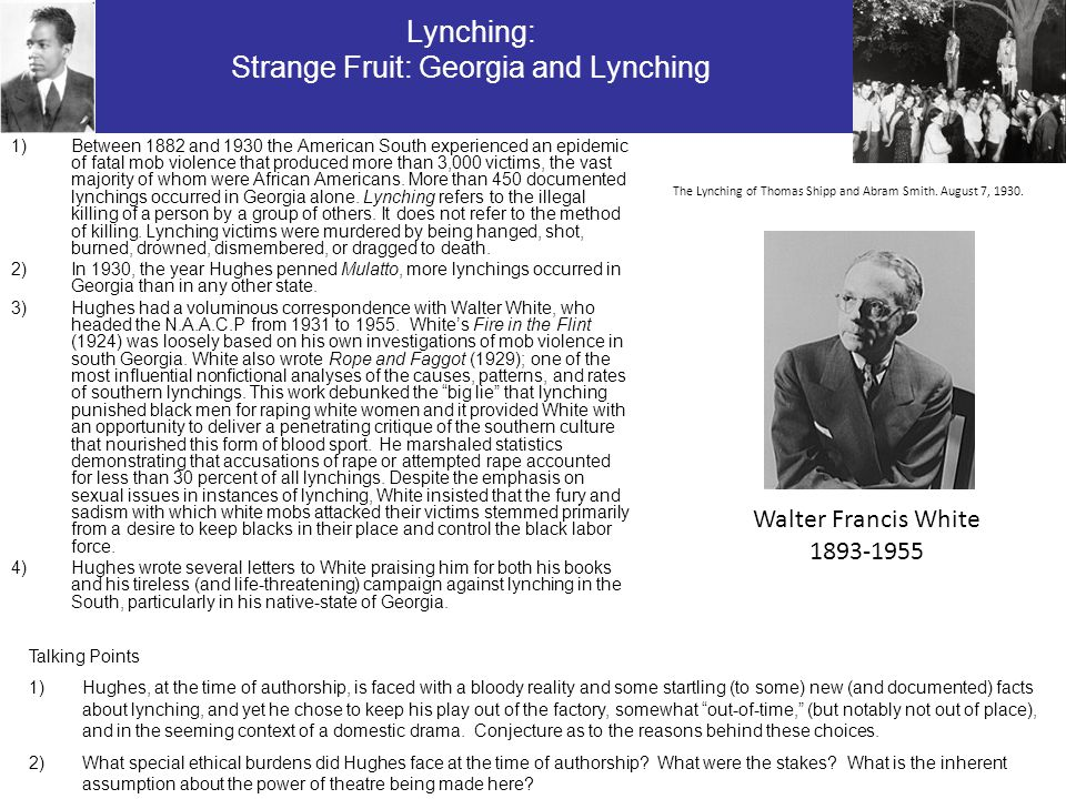 Lynching: Strange Fruit: Georgia and Lynching