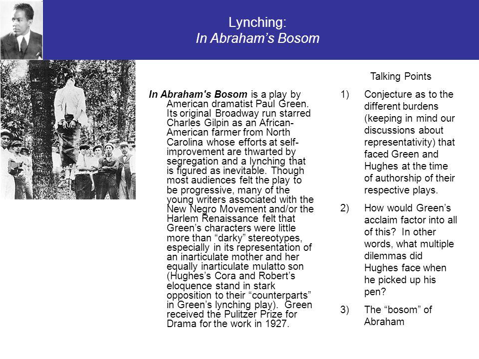 Lynching: In Abraham's Bosom