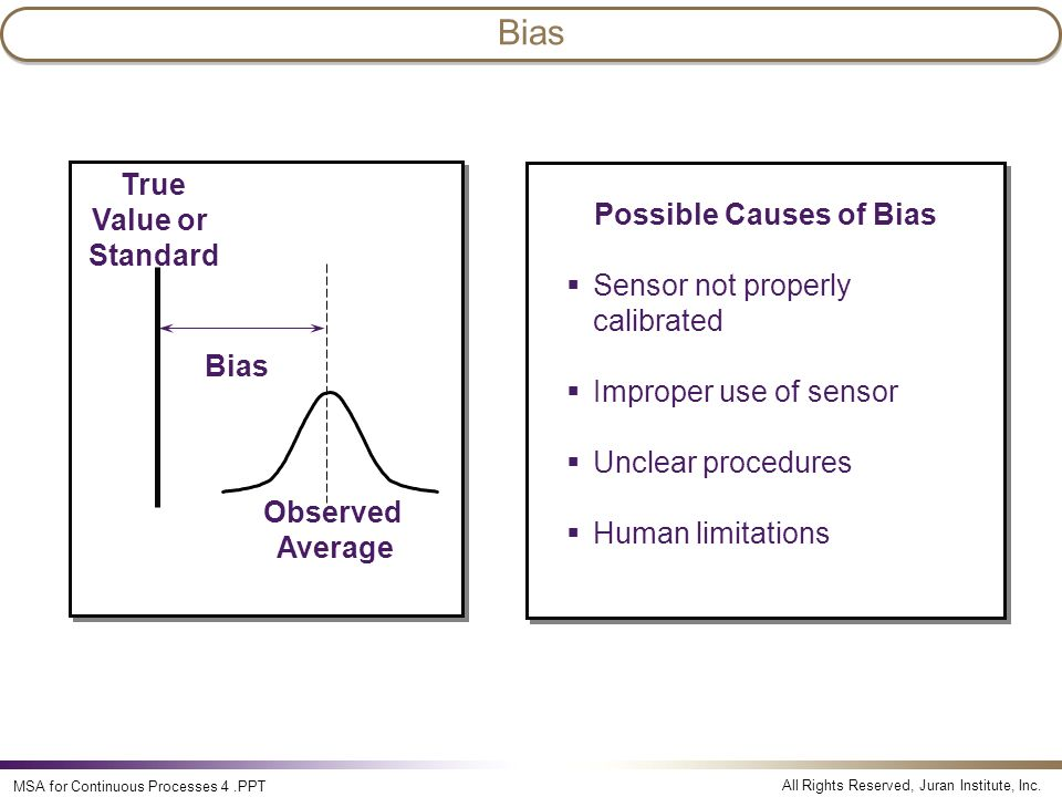 Possible Causes of Bias