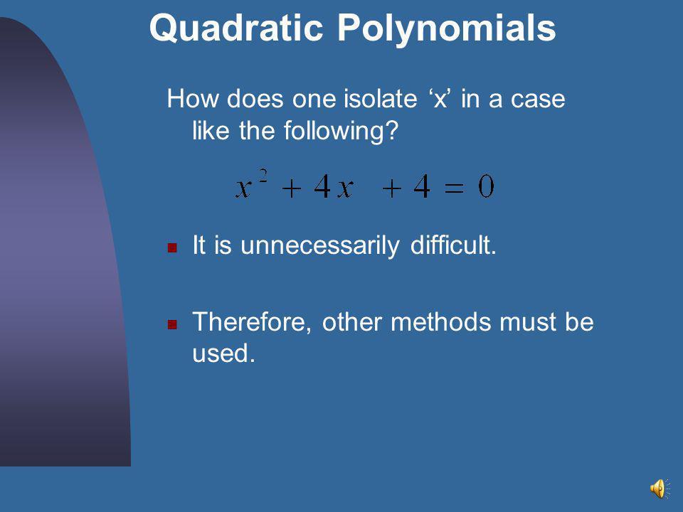 Quadratic Polynomials