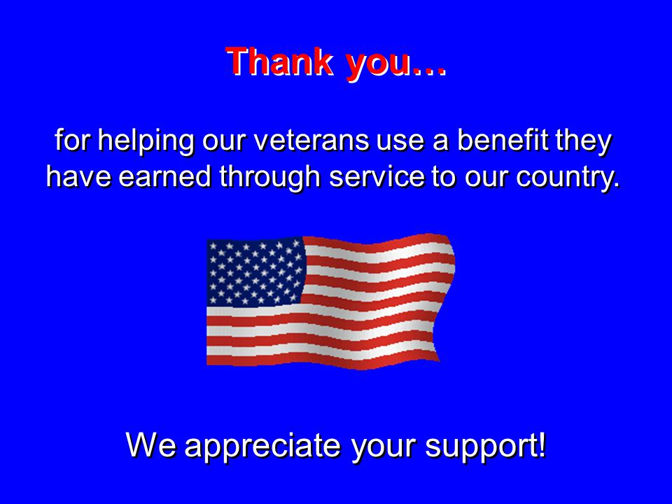 We appreciate your support!