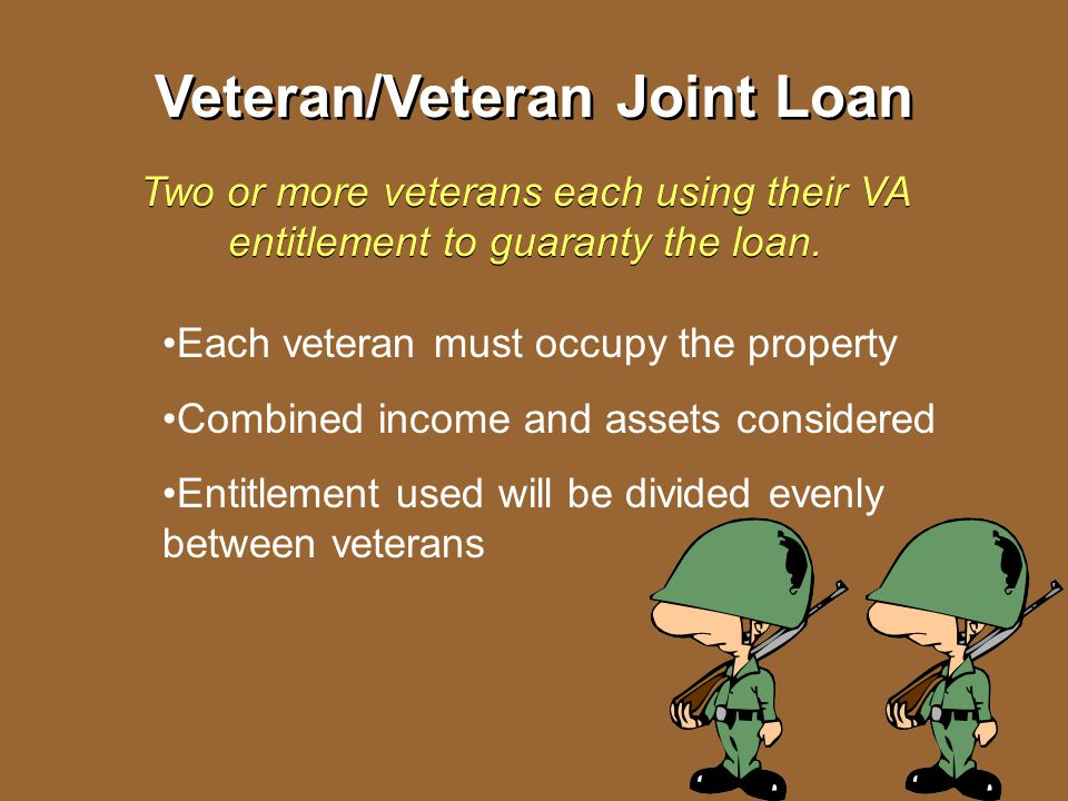 Veteran/Veteran Joint Loan