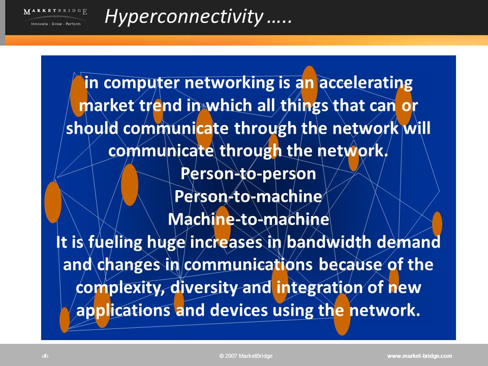 Hyperconnectivity …..