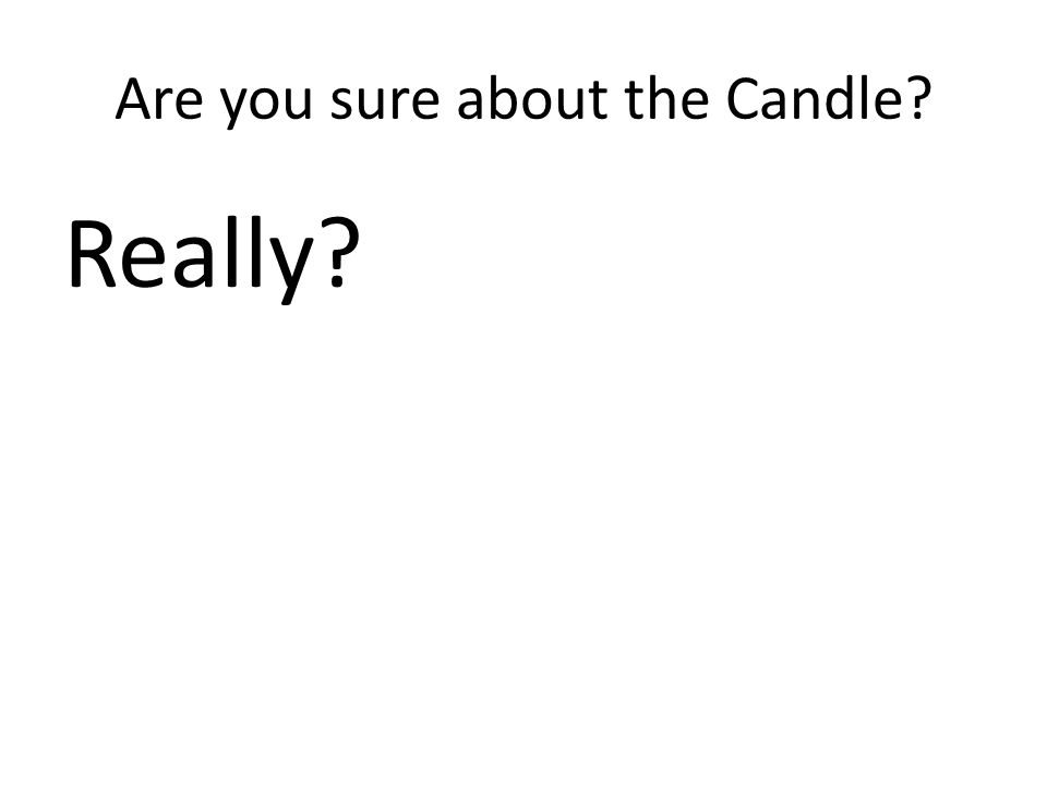 Are you sure about the Candle