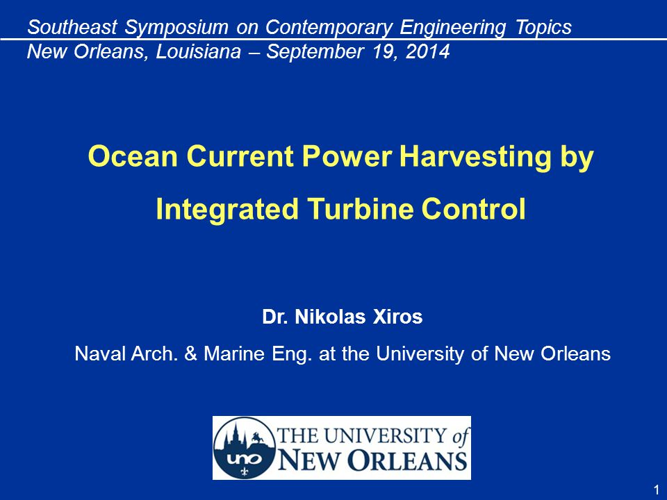 Ocean Current Power Harvesting by Integrated Turbine Control