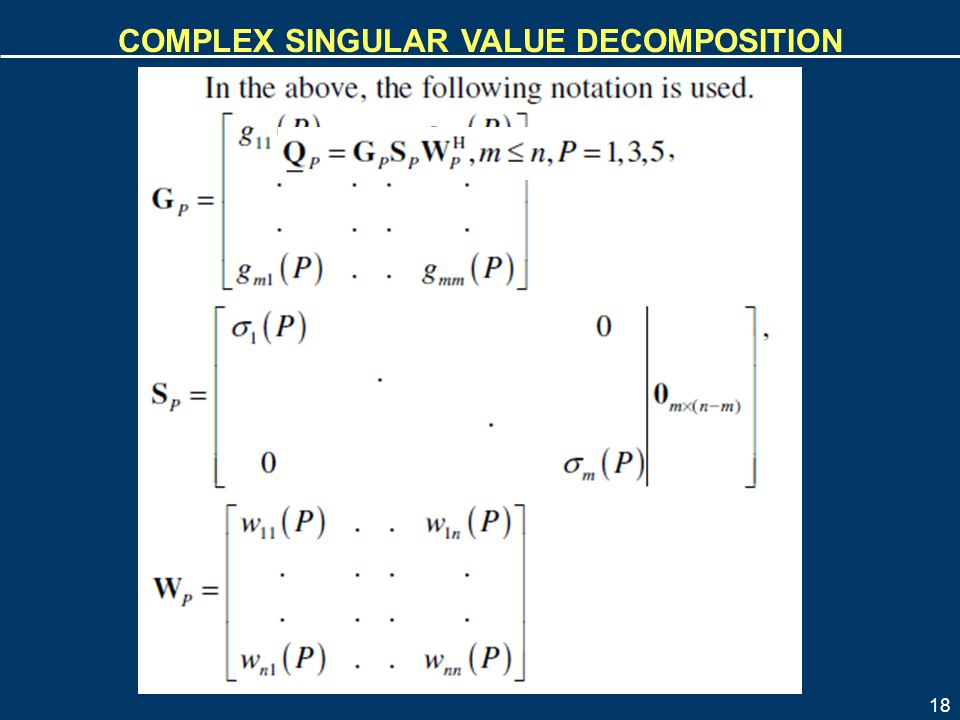 Complex Singular Value Decomposition