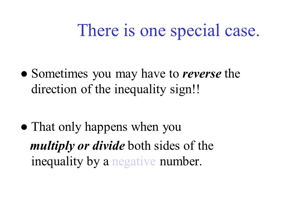 There is one special case.