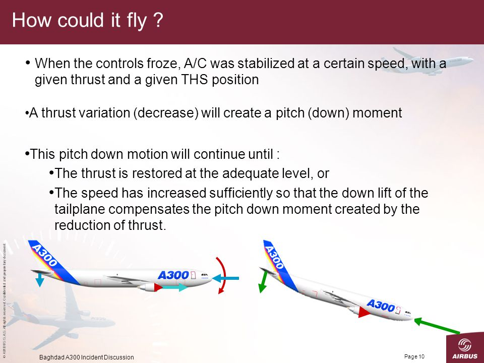 How could it fly When the controls froze, A/C was stabilized at a certain speed, with a given thrust and a given THS position.
