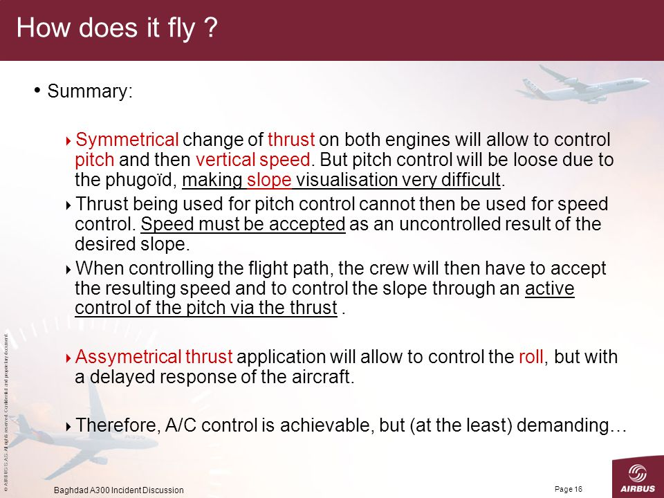 How does it fly Summary: