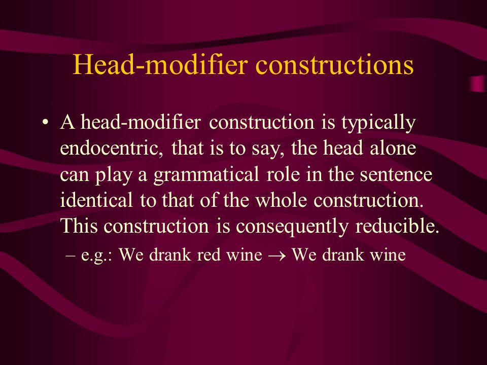 Head-modifier constructions