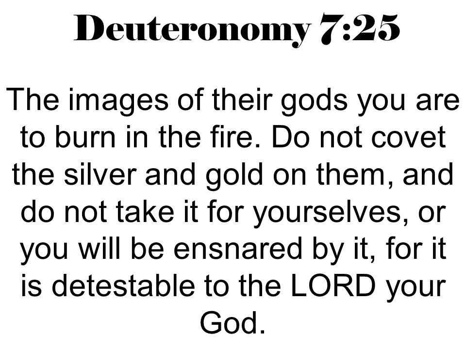 Deuteronomy 7:25