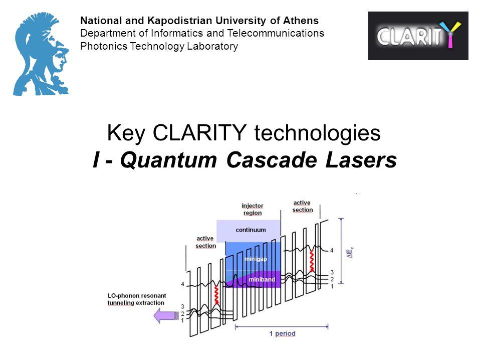 Key CLARITY technologies I - Quantum Cascade Lasers