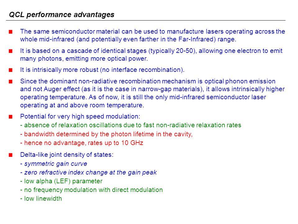 QCL performance advantages