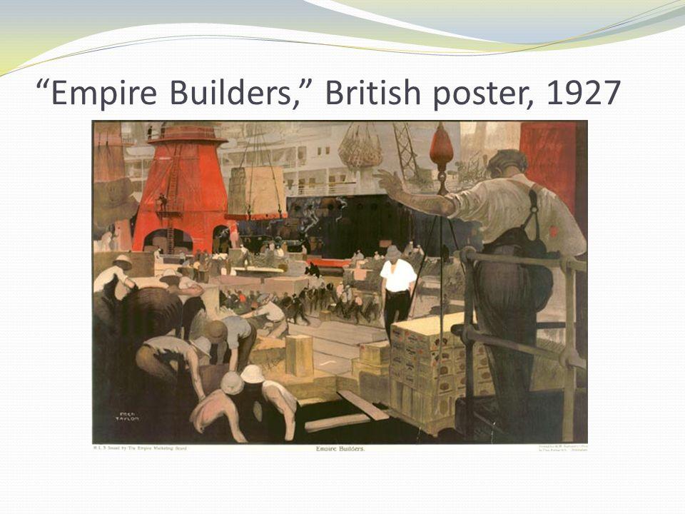 Empire Builders, British poster, 1927