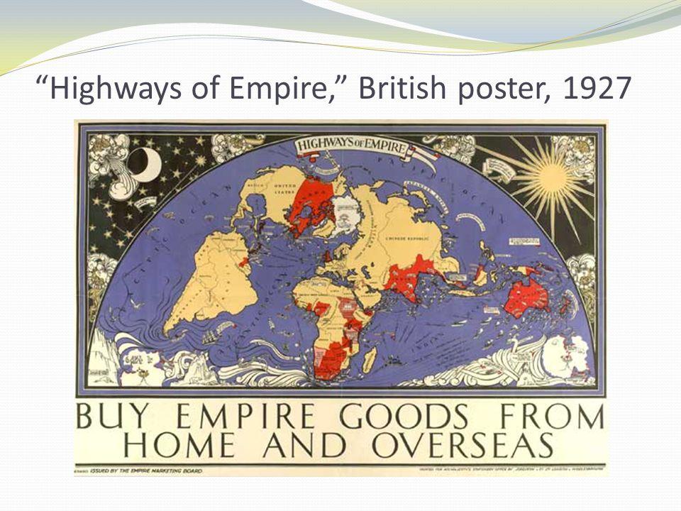 Highways of Empire, British poster, 1927