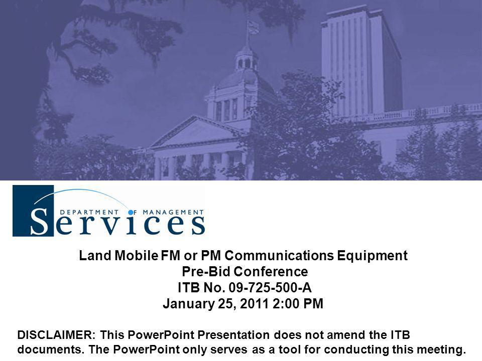 Land Mobile FM or PM Communications Equipment