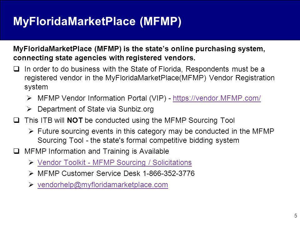 MyFloridaMarketPlace (MFMP)
