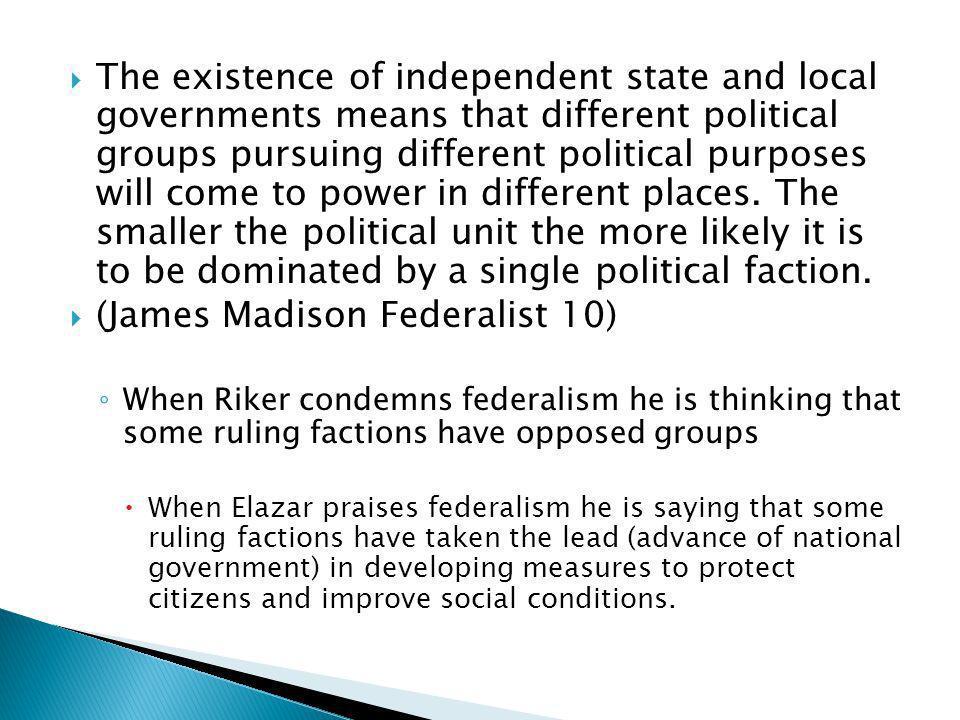 (James Madison Federalist 10)