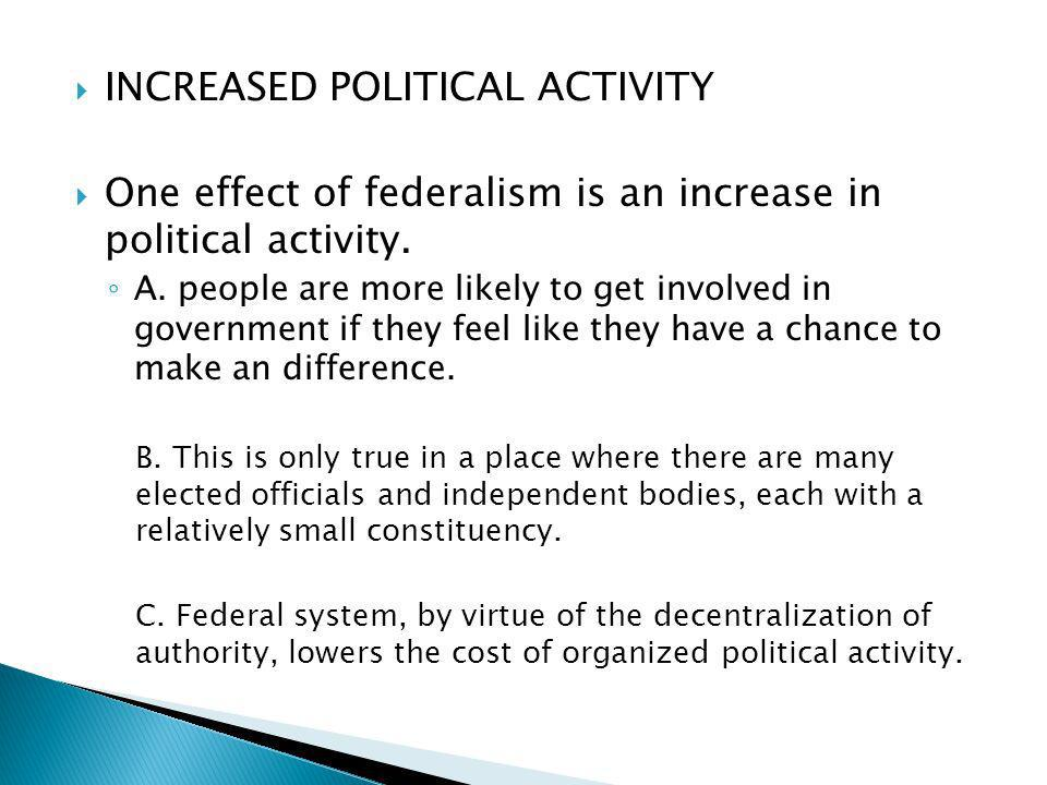 INCREASED POLITICAL ACTIVITY