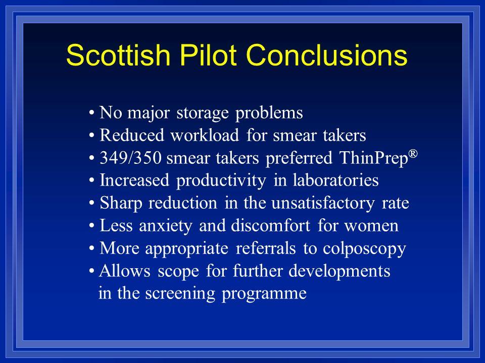 Scottish Pilot Conclusions