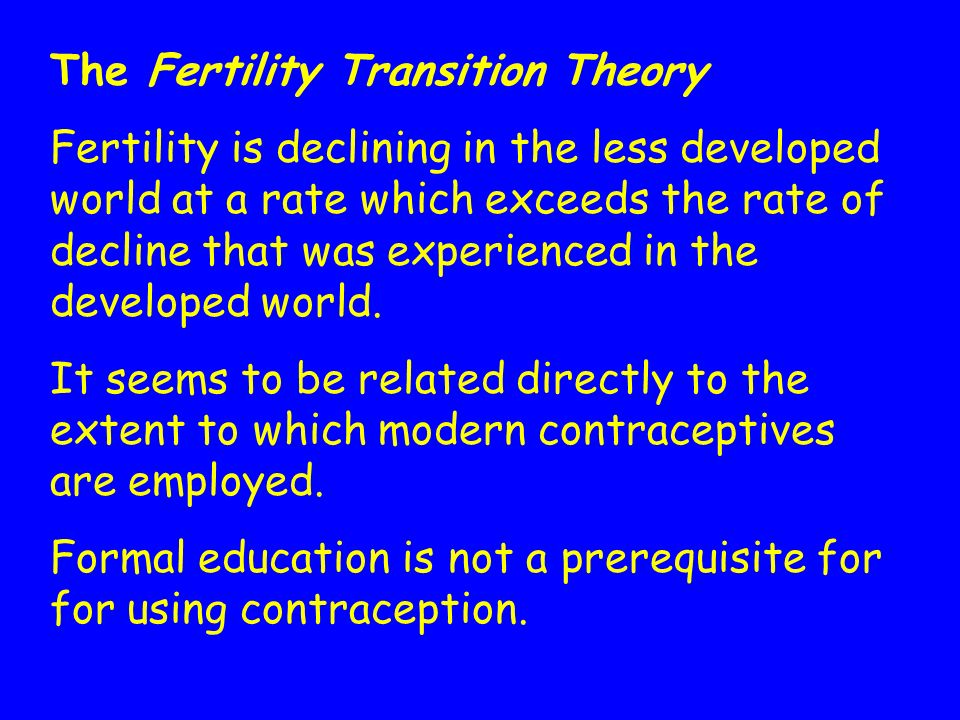 The Fertility Transition Theory