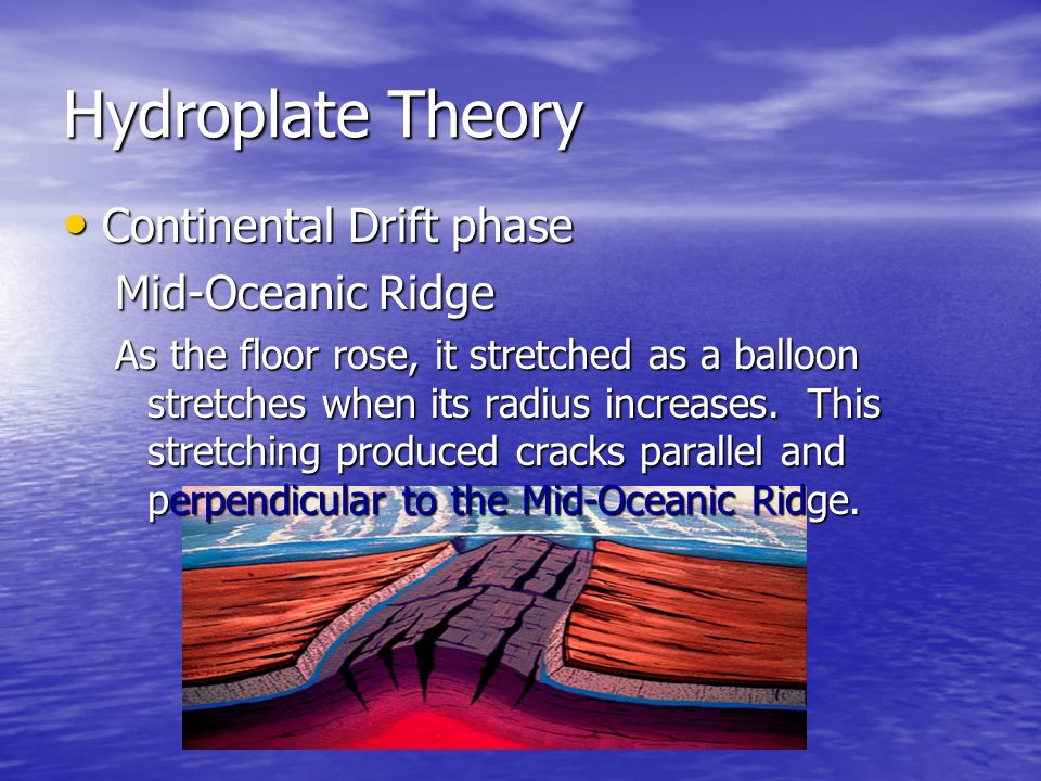 Hydroplate Theory Continental Drift phase Mid-Oceanic Ridge