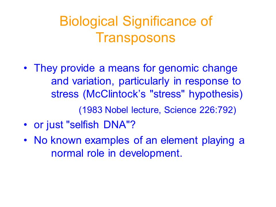 Biological Significance of Transposons