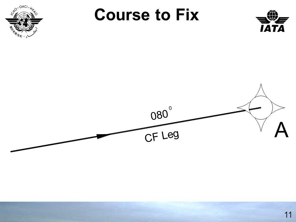 Course to Fix 080 A CF Leg