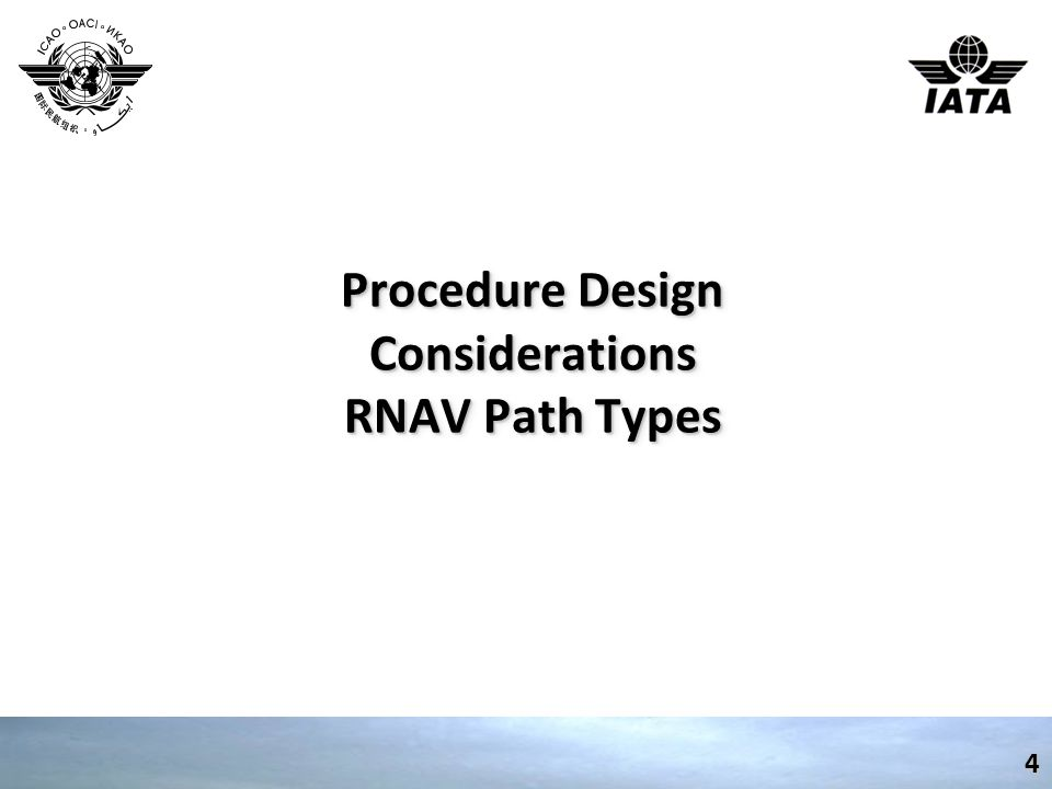 Procedure Design Considerations RNAV Path Types