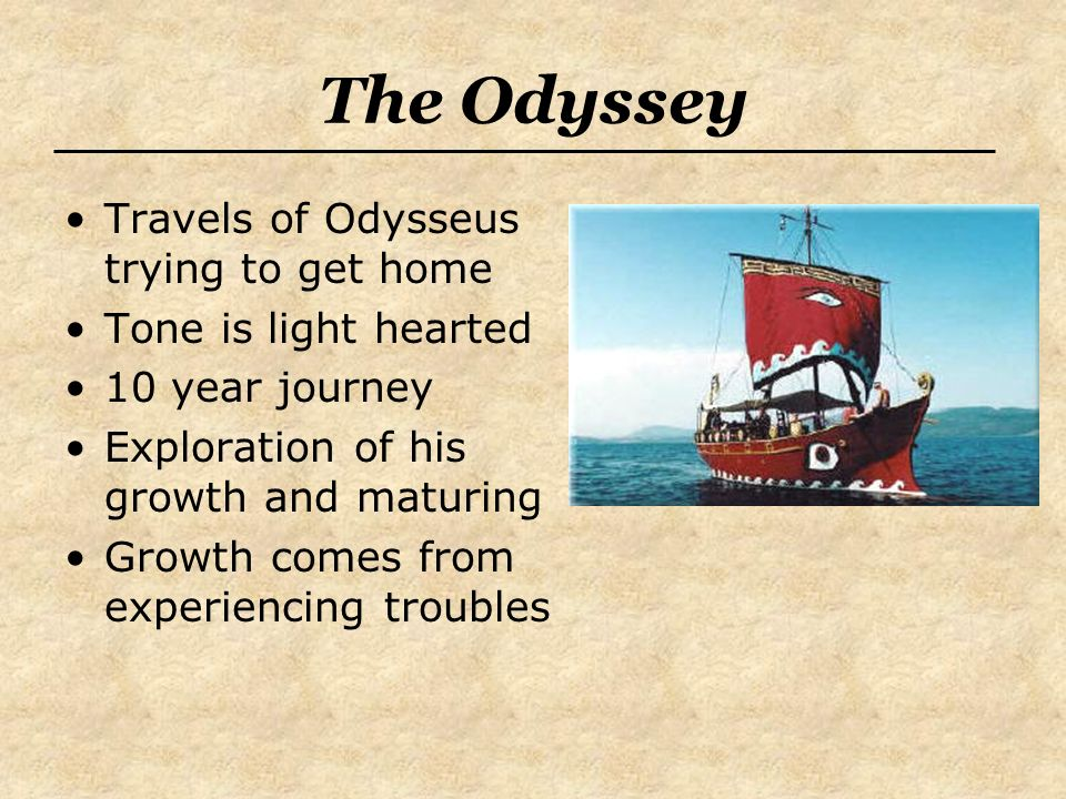 The Odyssey Travels of Odysseus trying to get home