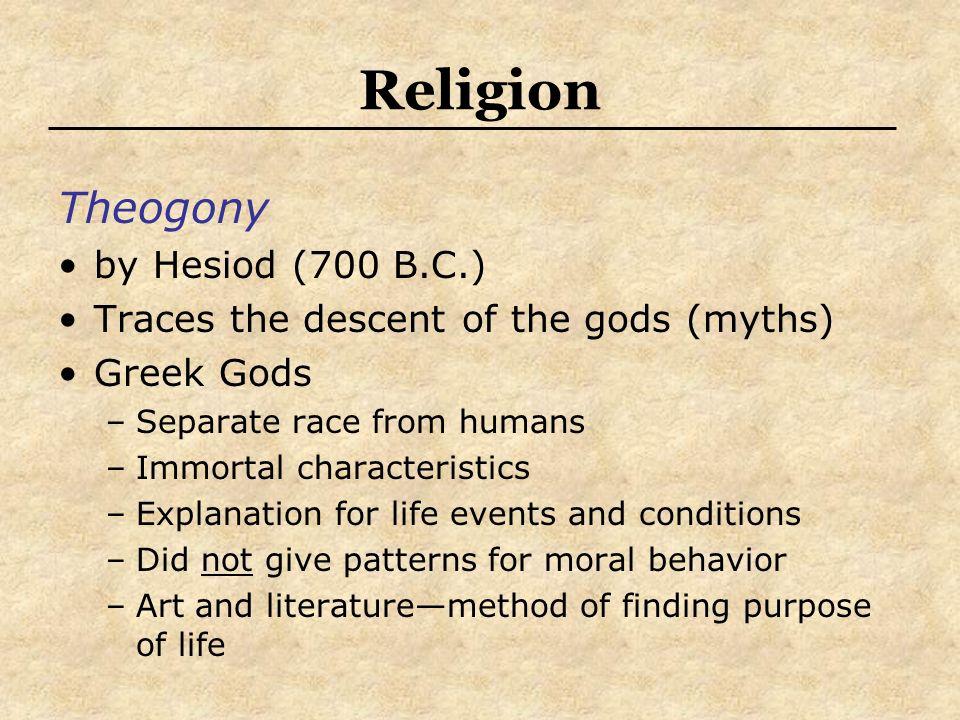 Religion Theogony by Hesiod (700 B.C.)