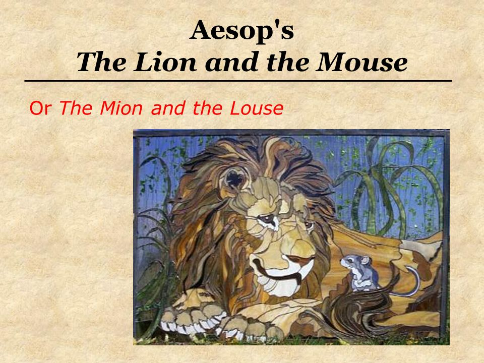 Aesop s The Lion and the Mouse