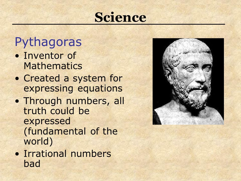Science Pythagoras Inventor of Mathematics