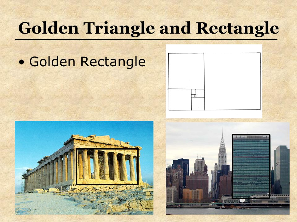Golden Triangle and Rectangle