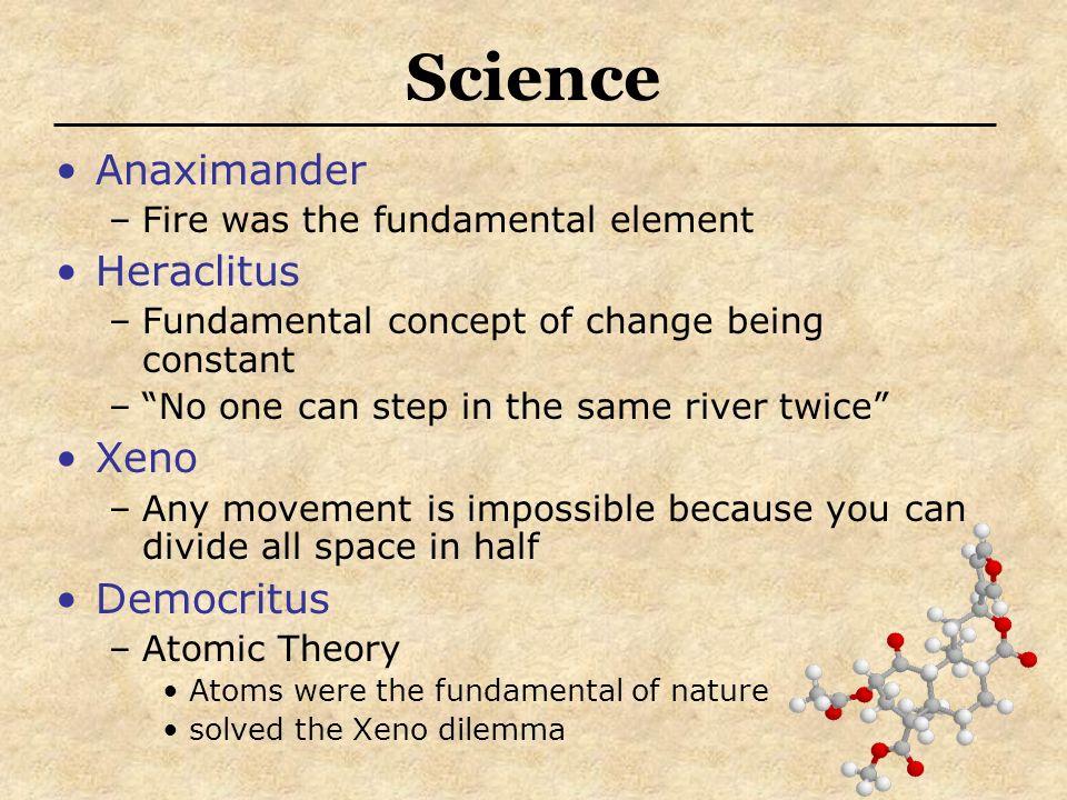 Science Anaximander Heraclitus Xeno Democritus