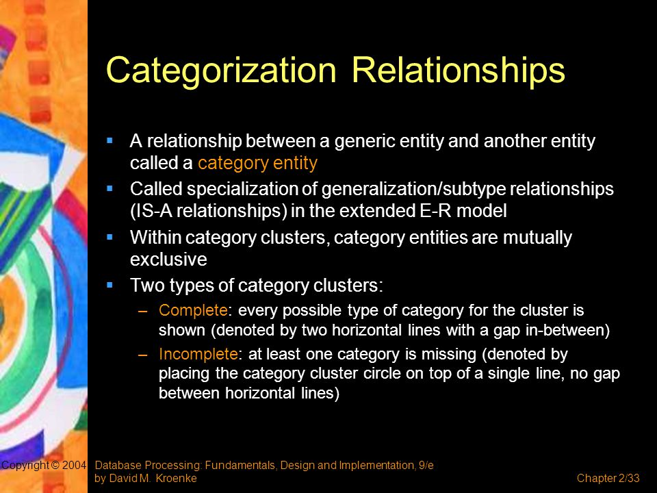 Categorization Relationships