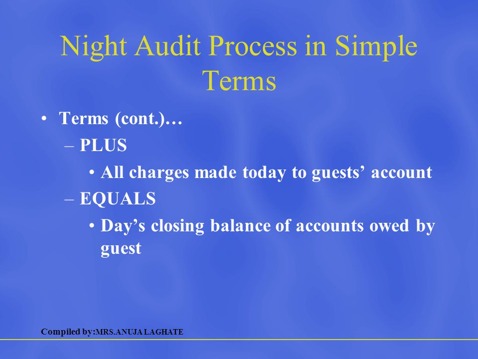 Night Audit Process in Simple Terms