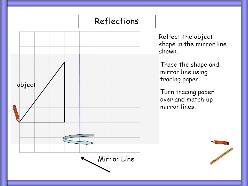 Tracing 1 Reflections Mirror Line