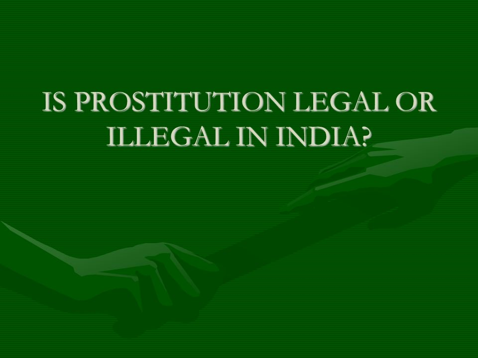 Online prostitution in india