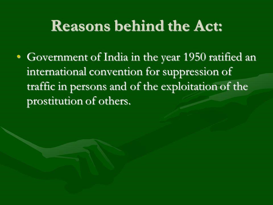 Reasons behind the Act: