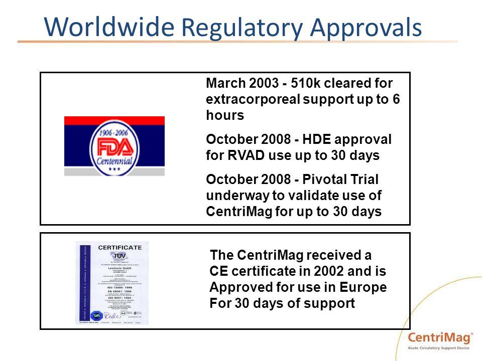 Worldwide Regulatory Approvals