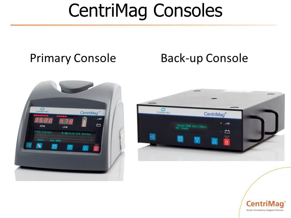 CentriMag Consoles Back-up Console Primary Console