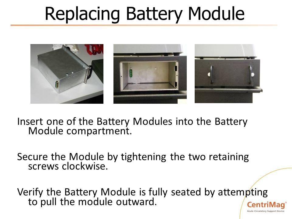 Replacing Battery Module
