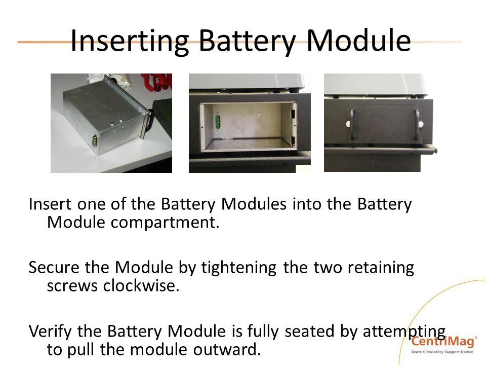 Inserting Battery Module
