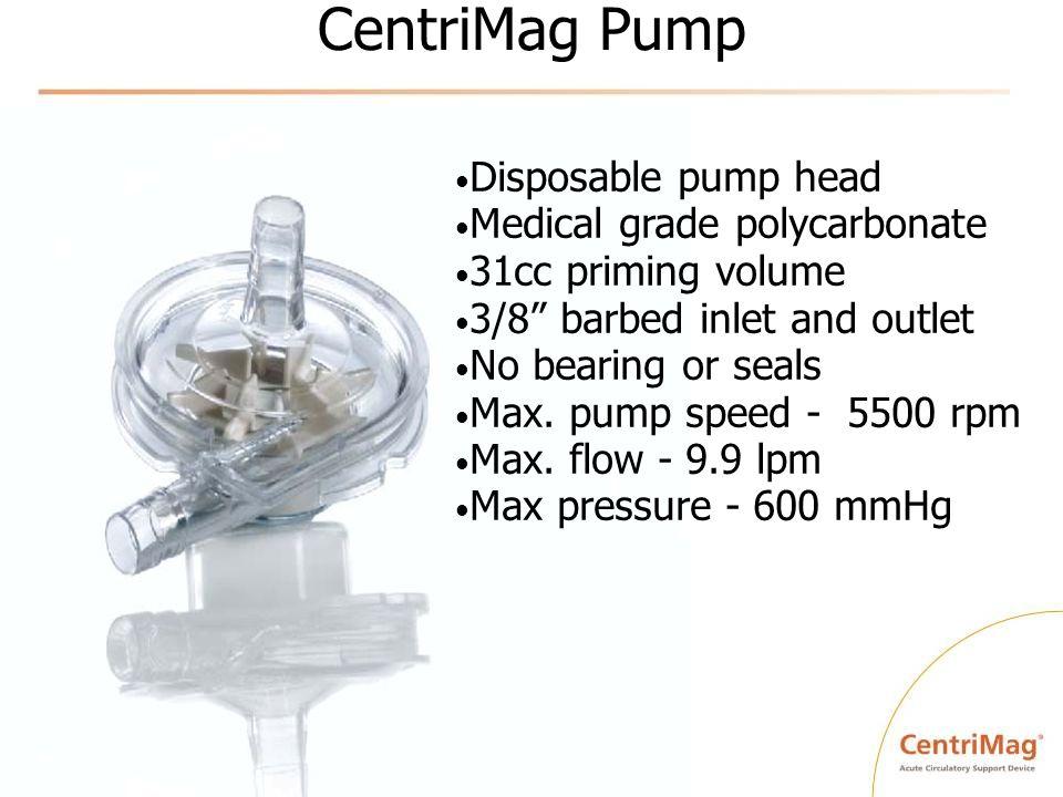 CentriMag Pump Disposable pump head Medical grade polycarbonate